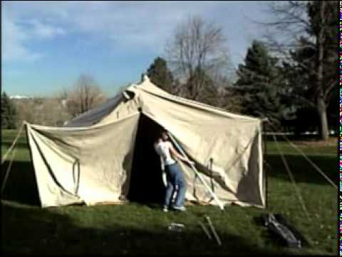 Traditional Poles Tent Setup Youtube