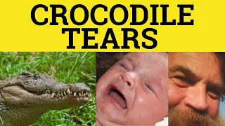 Shed Crocodile Tears - Idioms - ESL British English Pronunciation