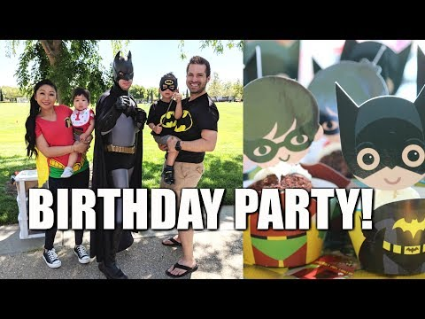 LEGO BATMAN ROBIN BIRTHDAY PARTY!