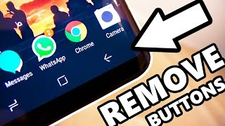 How to Remove Software Buttons - Immersive MODE Samsung Galaxy S8!