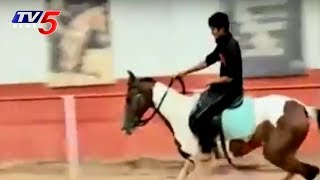 Crazy Horse Riding by Children at Hyderabad