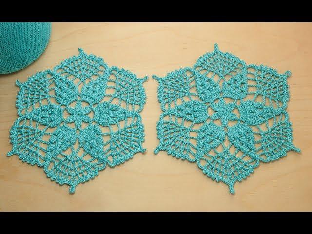 Вязание крючком АЖУРНЫЙ МОТИВ Crochet hexagon motif