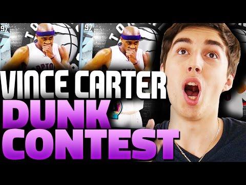 DIAMOND VINCE CARTER DUNK CONTEST! HE HAS 99 STEPHEN CURRY! NBA 2K16