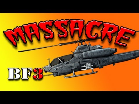 BF3 Attack Chopper Massacre - ( Rambo Tags Unlocked )