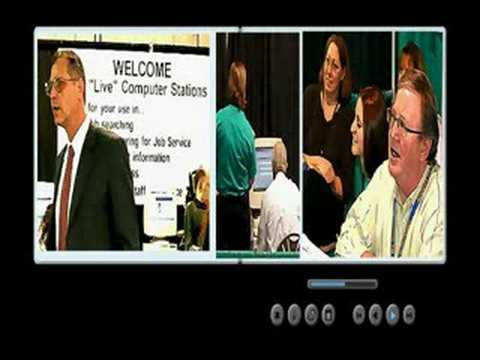 THE MANY FACES OF A JOB FAIR CROWD Video