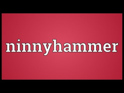 Header of ninnyhammer