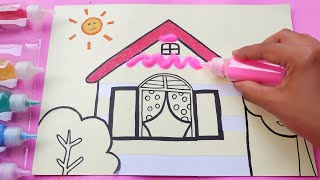 Colored Sand House |Learn Colors |Toy for Kids |Video for Kids |PINK GIRL
