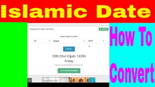 Islamic Date Today - How To   islamic Date Convert