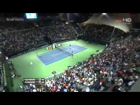 Novak Djokovic vs Roger Federer Highlights Dubai Open SF 28.02.2014