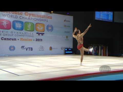 Gazov Lubov (aut) -- 2014 Aerobic Worlds, Cancun (mex), Qualifications -- We Are Gymnastics ! video