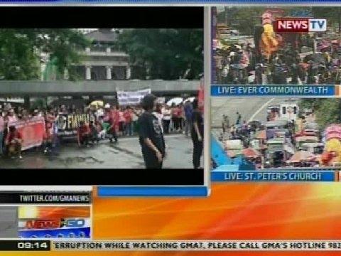 NTG: Mga OFW sa Hong Kong, nag-rally vs. PNoy administration