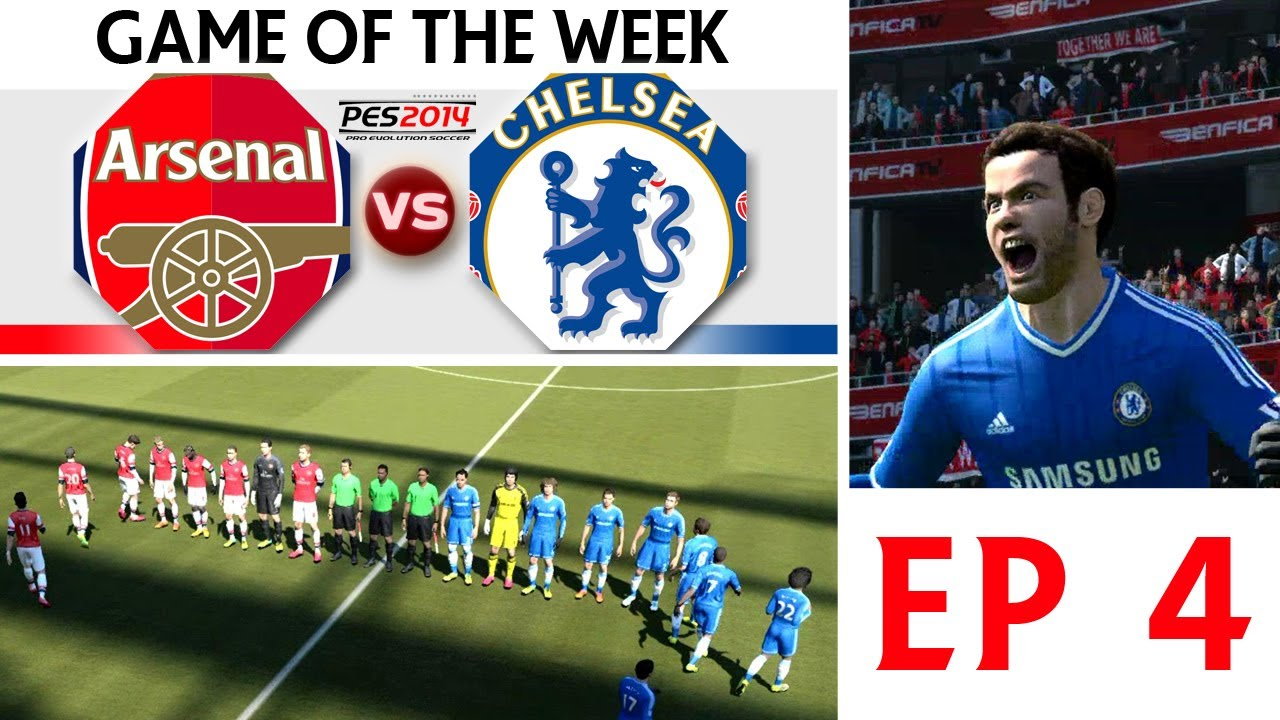 TTB] PES 2014 - Game Of The Week - Arsenal Vs Chelsea - EP4 - YouTube