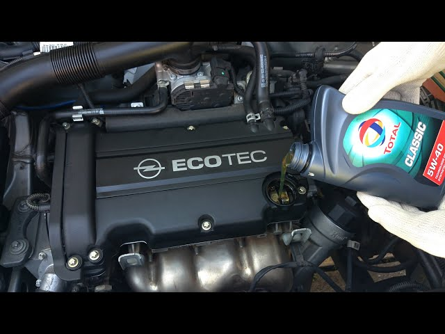 Opel Corsa - Oil and Oil Filter Change - YouTube