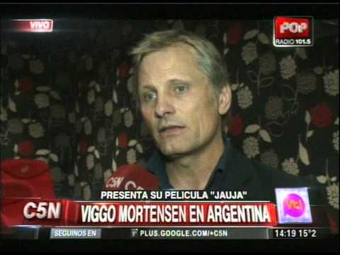 C5N - VIVA LA TARDE: VIGGO MORTENSEN PRESENTO JAUJA EN ARGENTINA