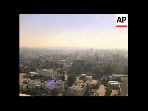 Rocket fire exchanged between Israelis and militants in Gaza