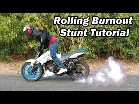How To Learn Rolling Burnout ? Easy Stunt Tutorial