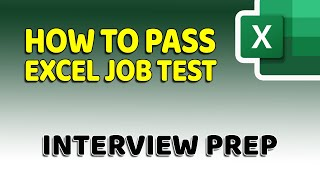 How To Pass Microsoft Excel Test - Get ready for the Interview