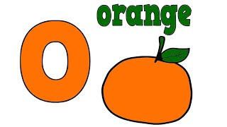 O for Orange Drawing & Coloring For Kids