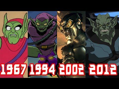 Эволюция Зелёного Гоблина все появления в фильмах и мультфильмах (1967-2014)