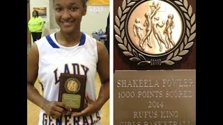 Shakeela Fowler surpasses 1,000 career points mark! | ESPN Highlights 2/26/14 | Illinois State bound