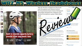 WRZ Wireless Bluetooth Headphones Review 2018