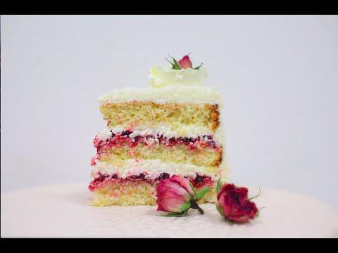 Кокосовый бисквитный торт / Coconut Sponge Cake