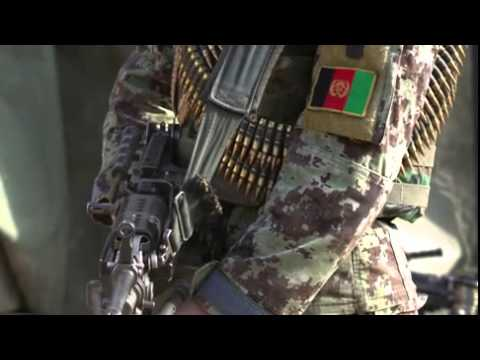Afghan National Army Soldiers Operate Patrol Base