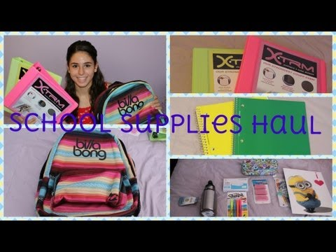 Back to School: School Supplies Haul!