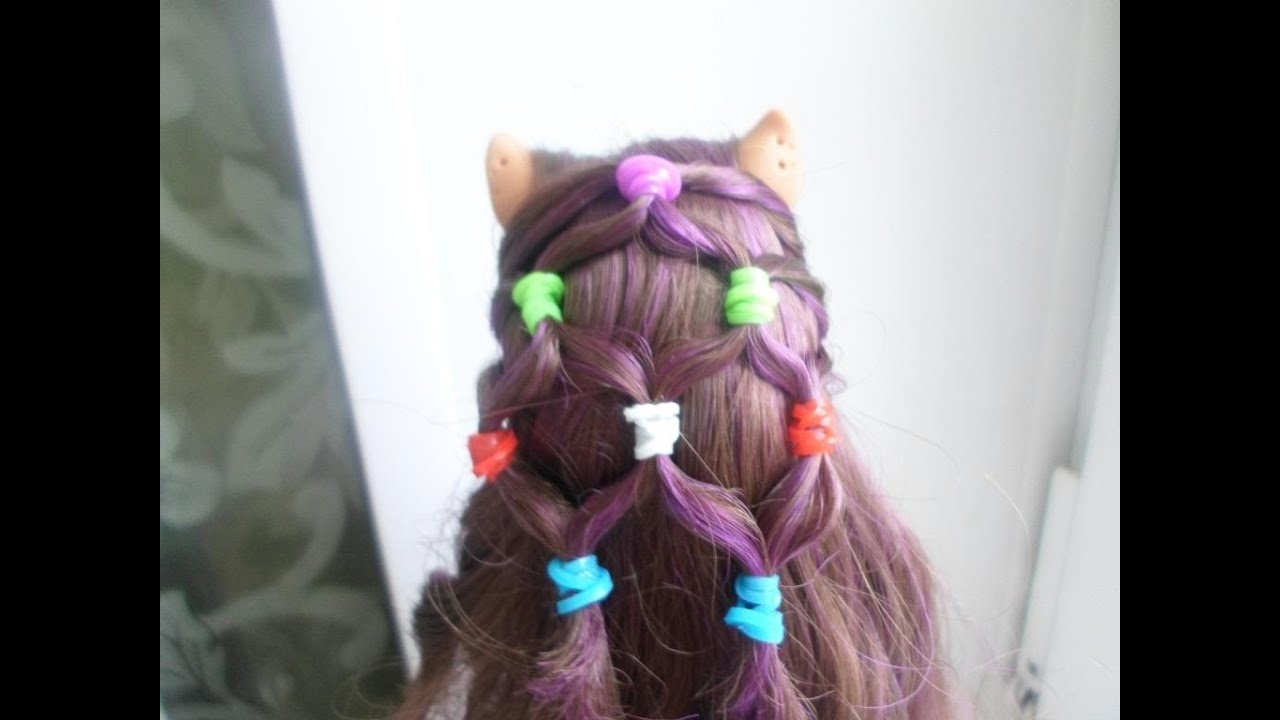 Как сделать легкую причёску для куклы 857