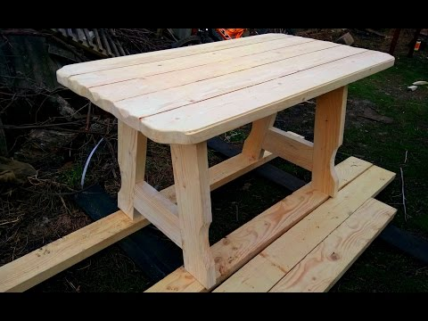 Как сделать стол из досок своими руками для дачи 907