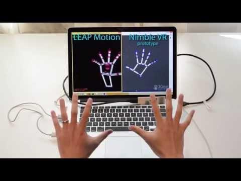 Nimble VR vs LEAP Motion - Skeletal Tracking
