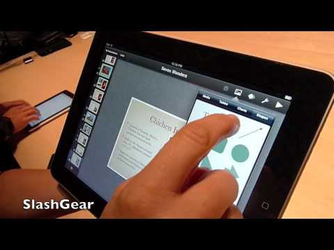 Apple iPad detail hands-on demo