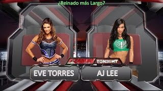 Wwe 2K15 - Aj Lee Vs. Eve Torres