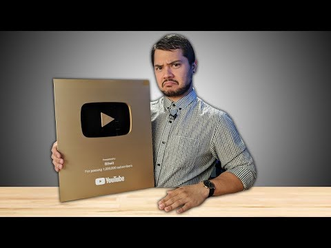 Lyle unboxes my 1 Million Subscriber Award