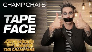 Tape Face Leaves Us Speechless With This Interview America 39 S Got Talent The Champions