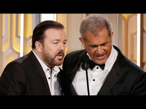 Here's The Totally NSFW Question Ricky Gervais Asked Mel Gibson at the Golden Globes