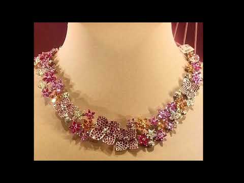 Latest gold necklace and haram designs with weight   fashion jewellery