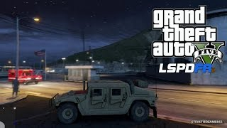 GTA 5 PC MODS - LSPDFR - POLICE SIMULATOR - EP 22 (NO COMMENTARY) MILITARY PATROL