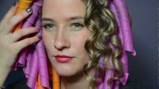 Romantic curls without heat using curl formers
