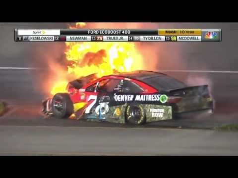 Carl Edwards HUGE CRASH Final round 2016 Nascar Sprint Cup series