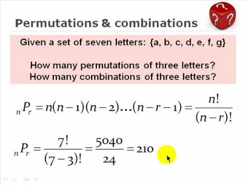Combinations And Permutation