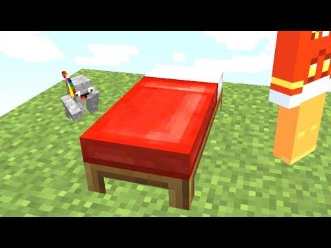 Sein Bett heimlich als Winzling abbauen😂💯.. Minecraft LUCKY BLOCK BEDWARS