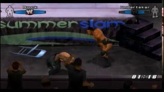 "(PS2) Smackdown vs RAW 2006 ""TLC"" Gameplay Online (The Rock vs The Undertaker) [05/06/2014]"