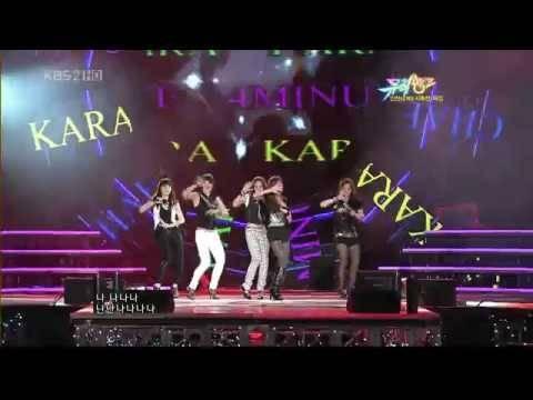 T-ara (Tiara) & 4Minute & Kara - Two of Us (Aug, 14th 2009)