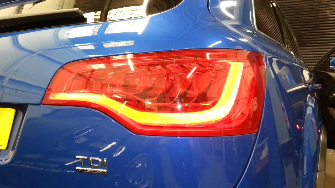 Audi Q7 Led Rear Light Conversion Youtube