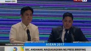 BT: Sec. Andanar, nagsasagawa ng press briefing kaugnay sa ASEAN Summit