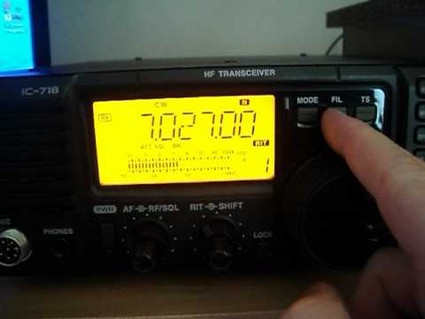 icom ic 718 cw filter