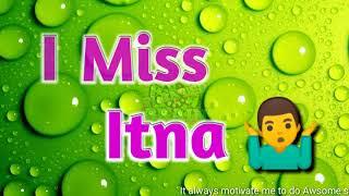 I Miss You Itna | Romantic | Sad | Love | Emotional | Cute | Hindi Status | Best WhatsApp Status |