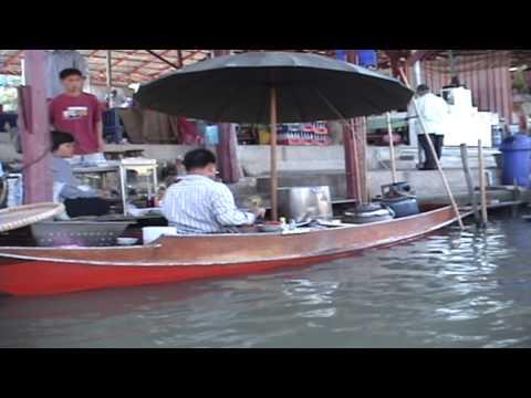 """The """"Floating Market"""" of Bangkok, THAILAND"""