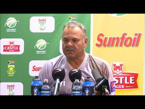 Dav Whatmore, Day 3 Press Conference, First Test, South Africa v Pakistan, 3/2/2013